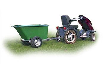 Tipping trailer for Tramper
